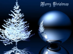 3d Ice Christmas Wallpaper-486931