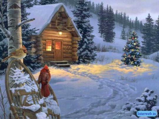 cute christmas snow wallpaper