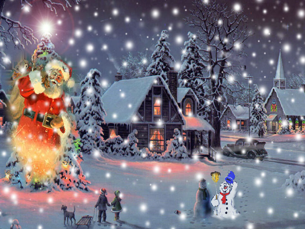 free animated christmas wallpapers free animated christmas wallpaper for desktop - Animated Christmas Pictures