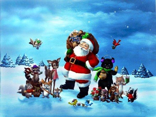 free santa christmas desktop wallpaper