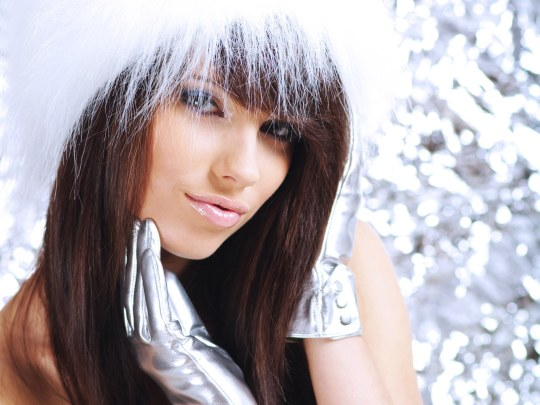 hot Christmas girls wallpapers