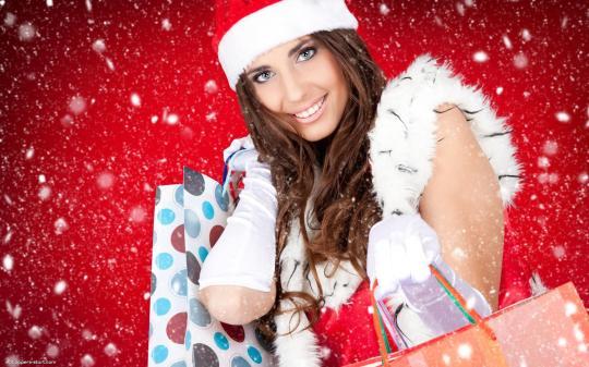 lovely Christmas girls wallpapers