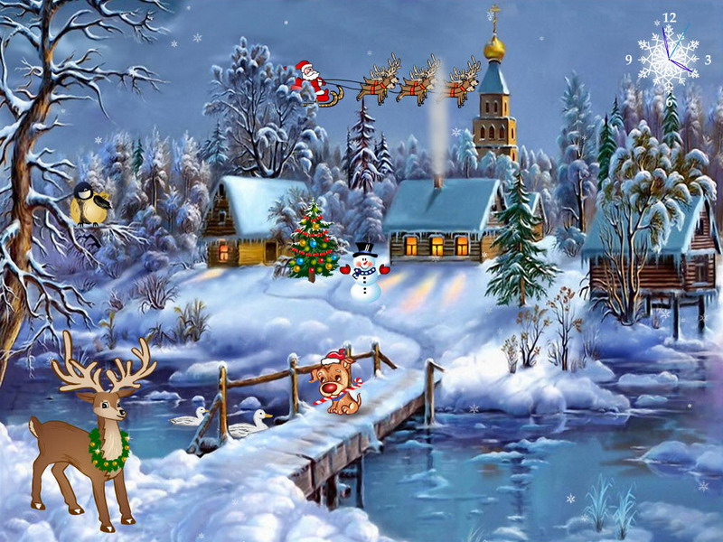 free christmas wallpapers and screensavers - Animated Christmas Wallpaper