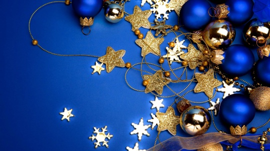 Blue Christmas theme wallpaper 2014
