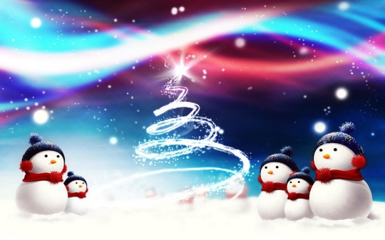 Snowman Wallpaper For Christmas